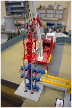 фото Макет добычи газа