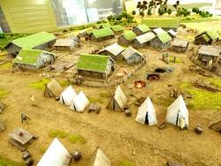 фото Макет древнего поселения
