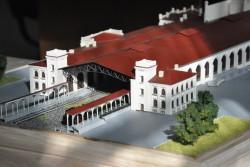 фото Макет вокзала в Петергофе
