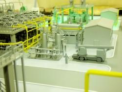 фото Макет части завода СПГ